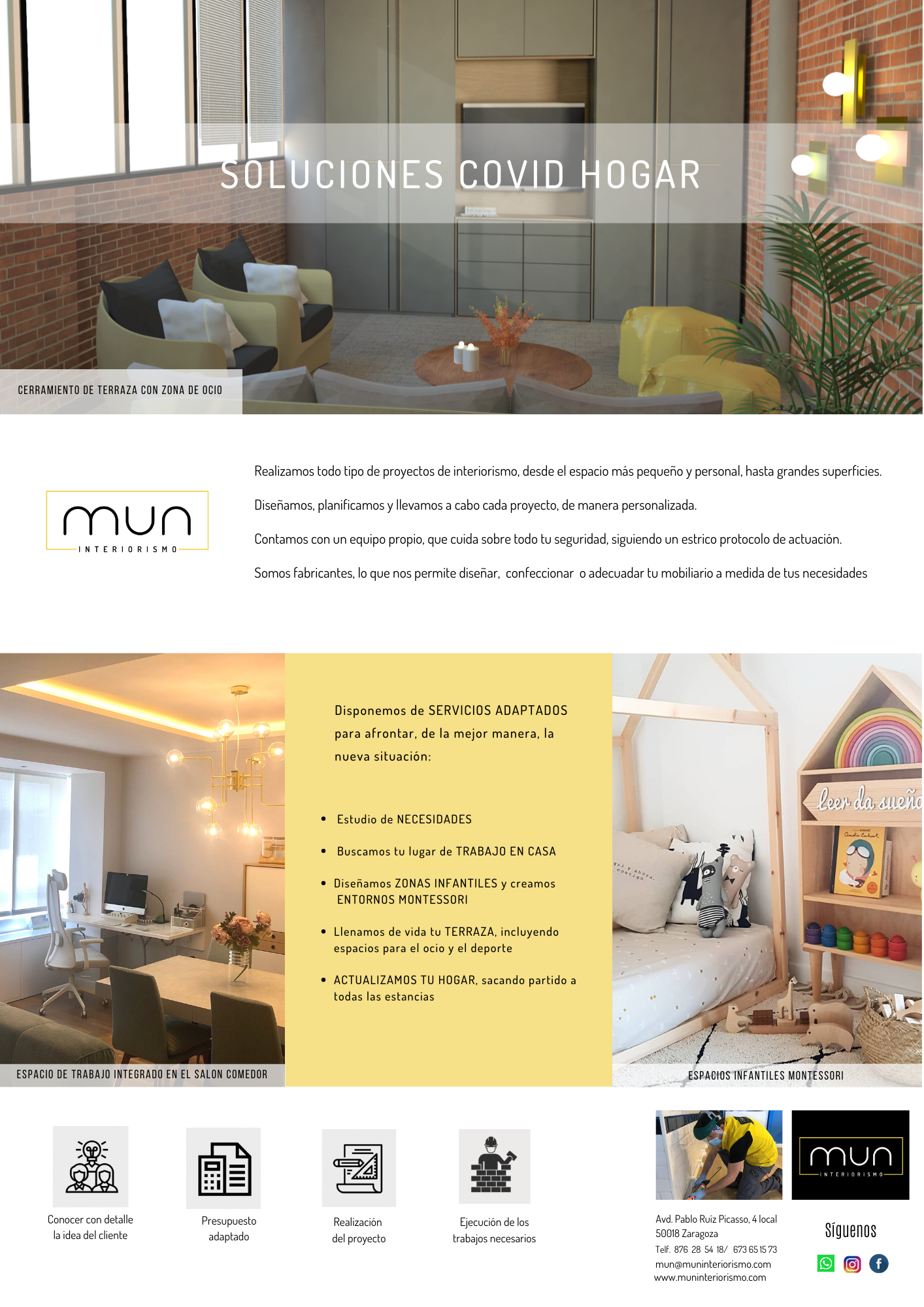 Opciones de adpatación de viviendas a la realidad COVID19