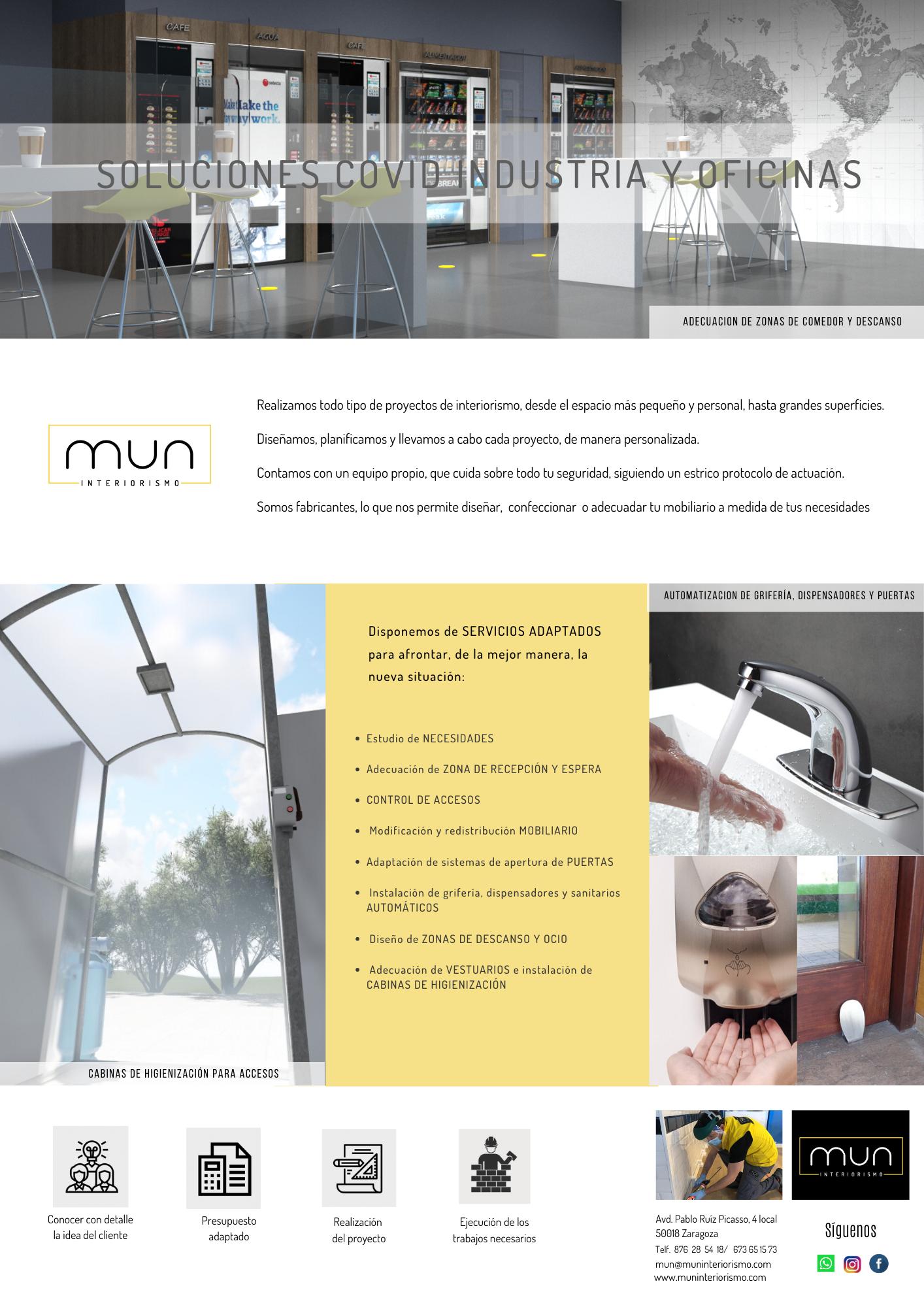 Opciones Mun para adaptar las instalaciones industriales y oficinas al COVID