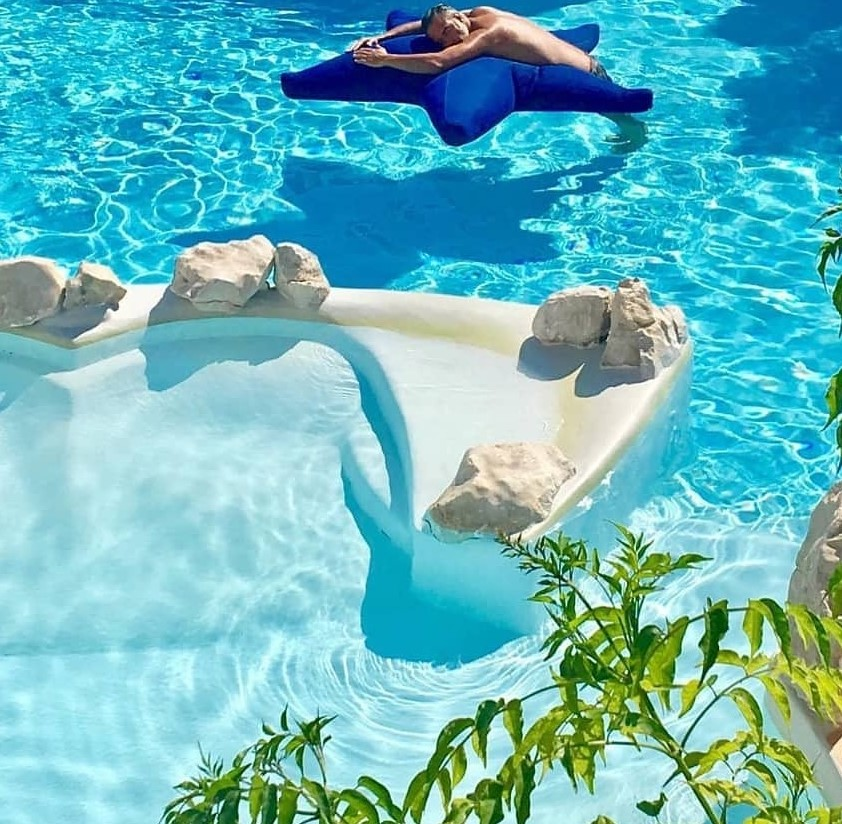 Starfish blue para exterior agua