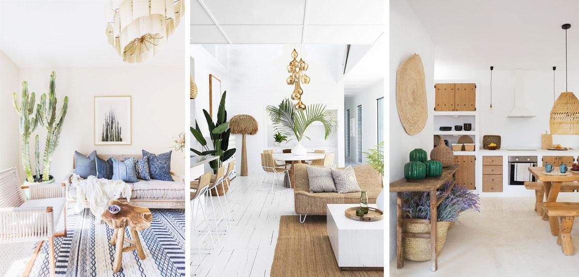 Ejemplos de detalles vegetales en espacios domésticos