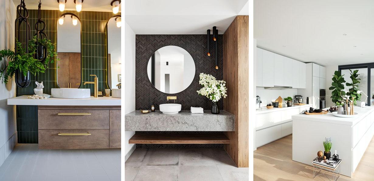 Ejemplos de plantas en baños y cocina