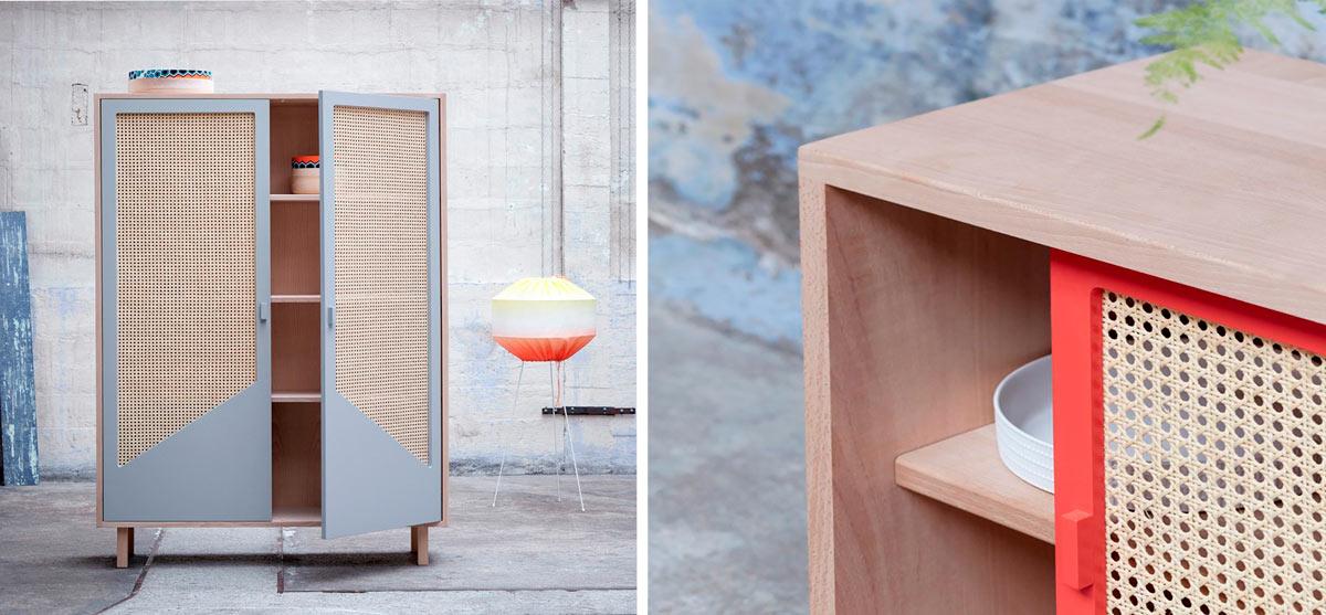 Muebles con fibras naturales