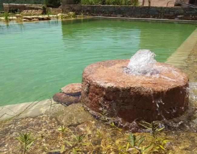Fuente para oxigenar el agua