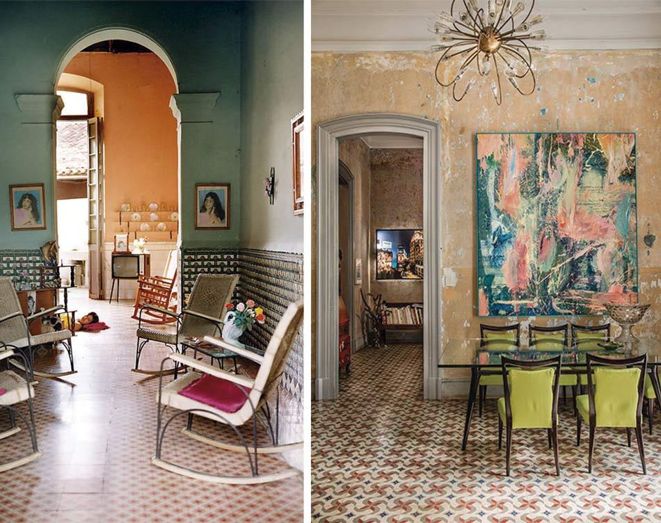 Reutilización adaptada de viviendas antiguas incluyendo elementos decorativos actuales