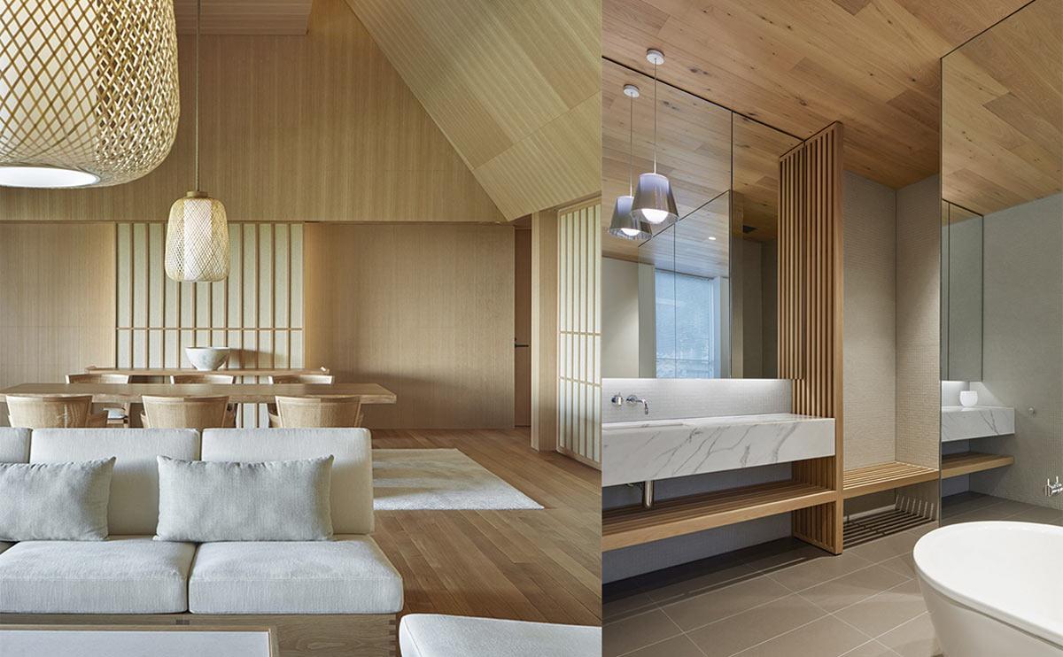 Mobiliario de bambú y otras maderas exóticas para espacios despejados y funcionales de inspiración Asia