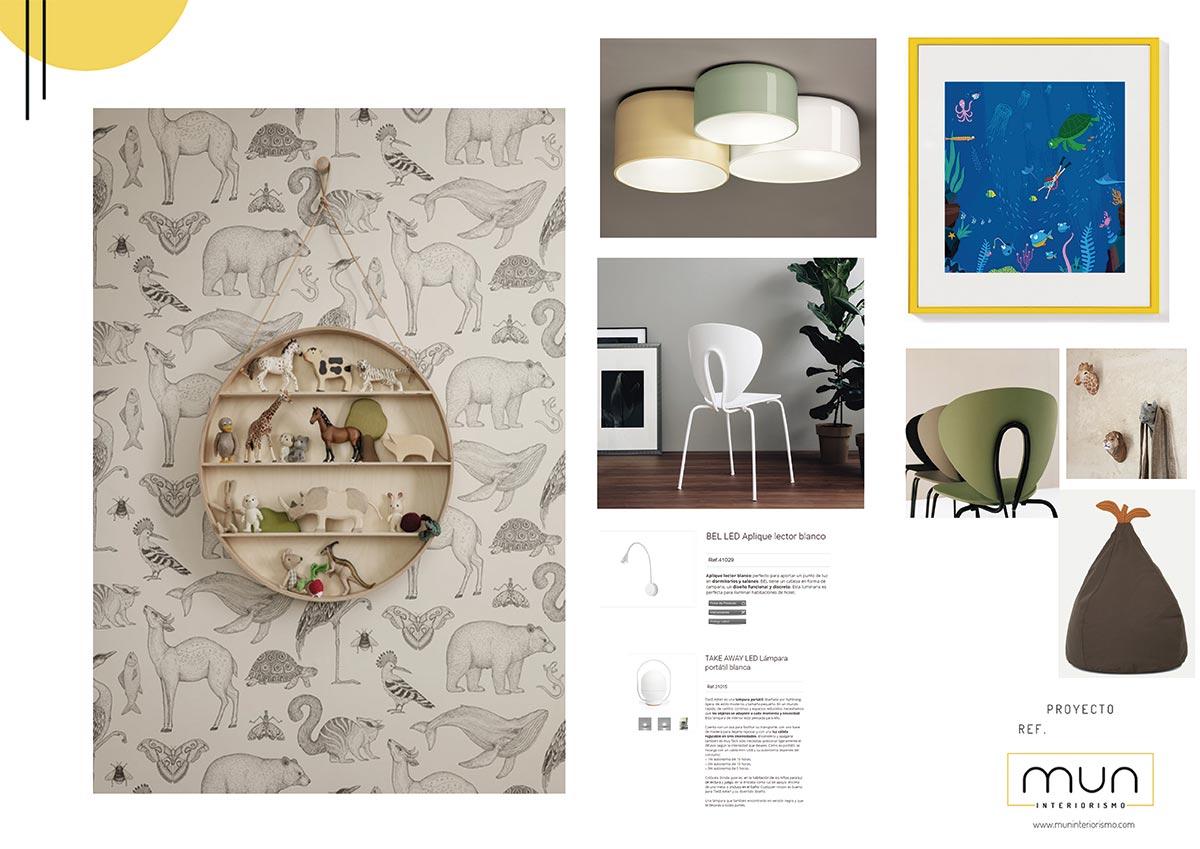 Propuesta de diseño personalizado para la decoración de la habitación