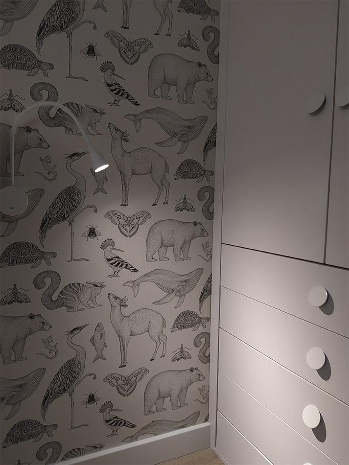 DEcoración con Papel FERMLIVING de temática animal
