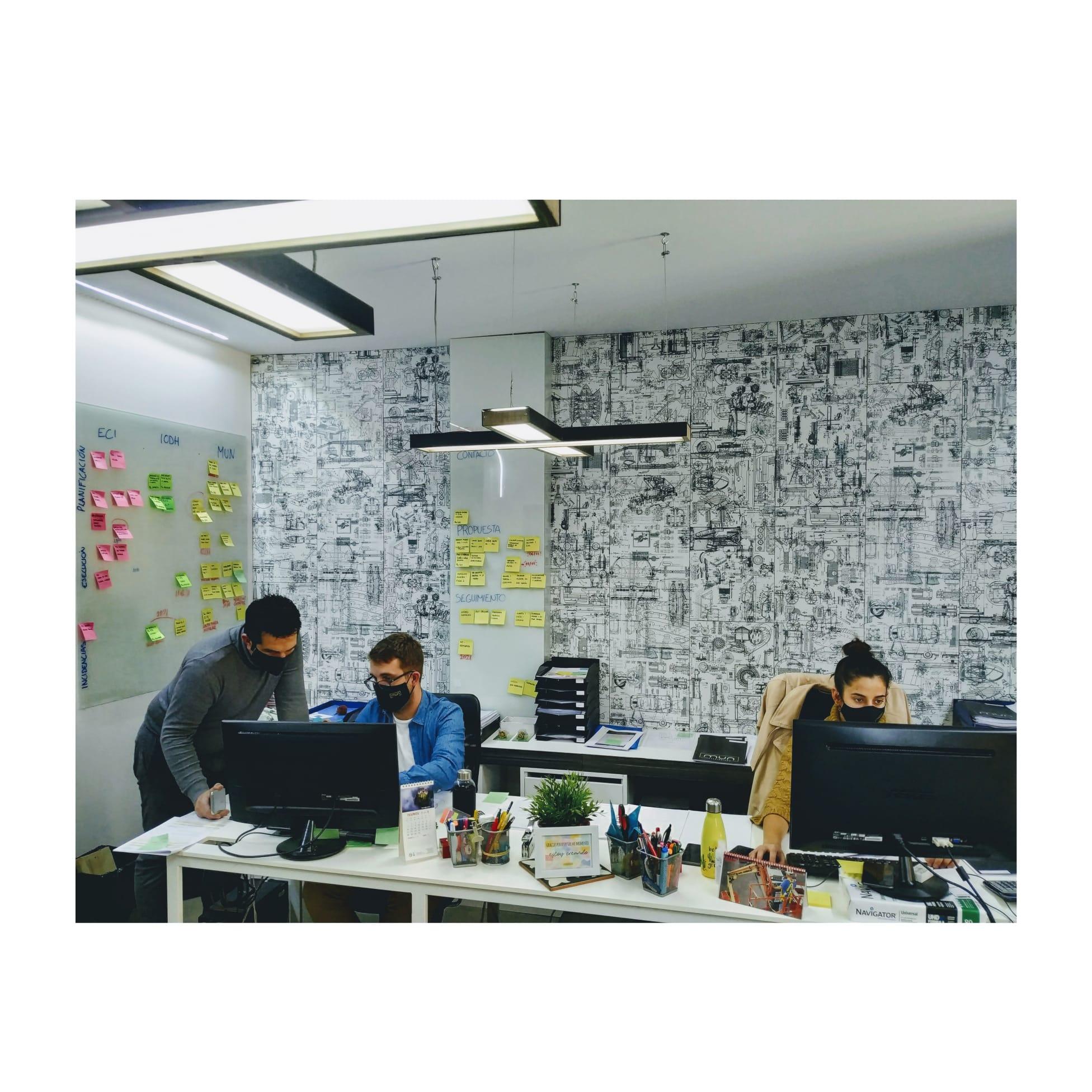 Oficina de diseño de Mun Interiorismo en Zaragoza