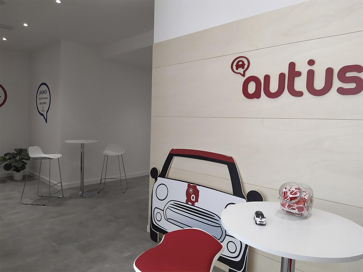 decoracion reforma de local autoescuela autius zaragoza