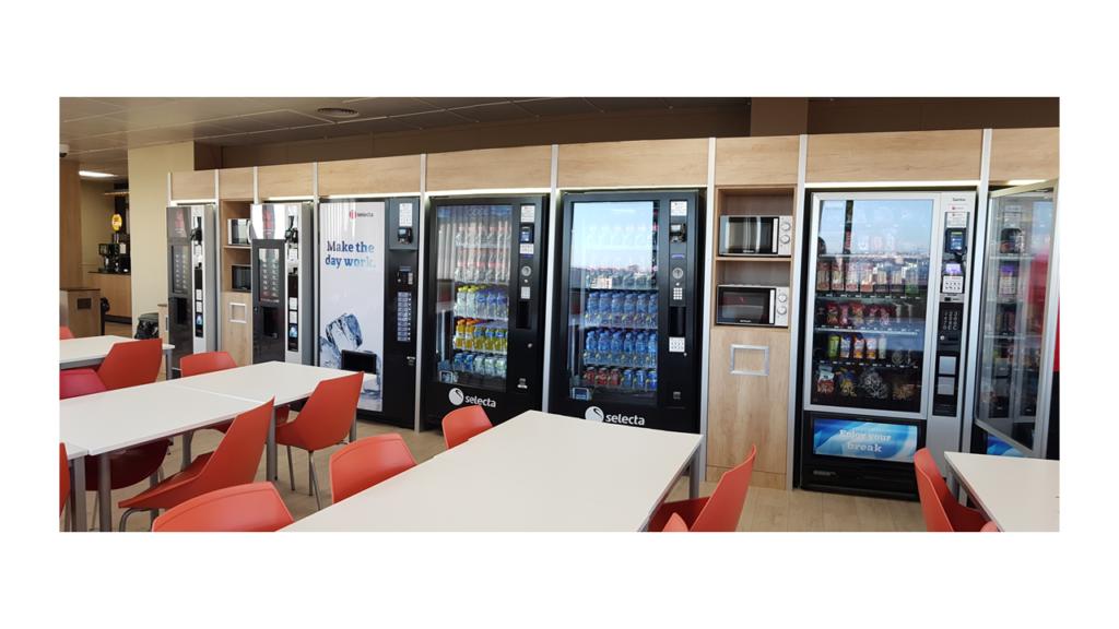 Zona de vending tras la reforma