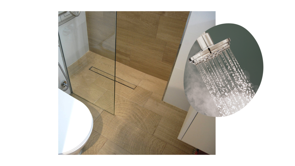 Reforma de baños pqueños. Ducha de obra en reforma de baño de pequeñas dimensiones