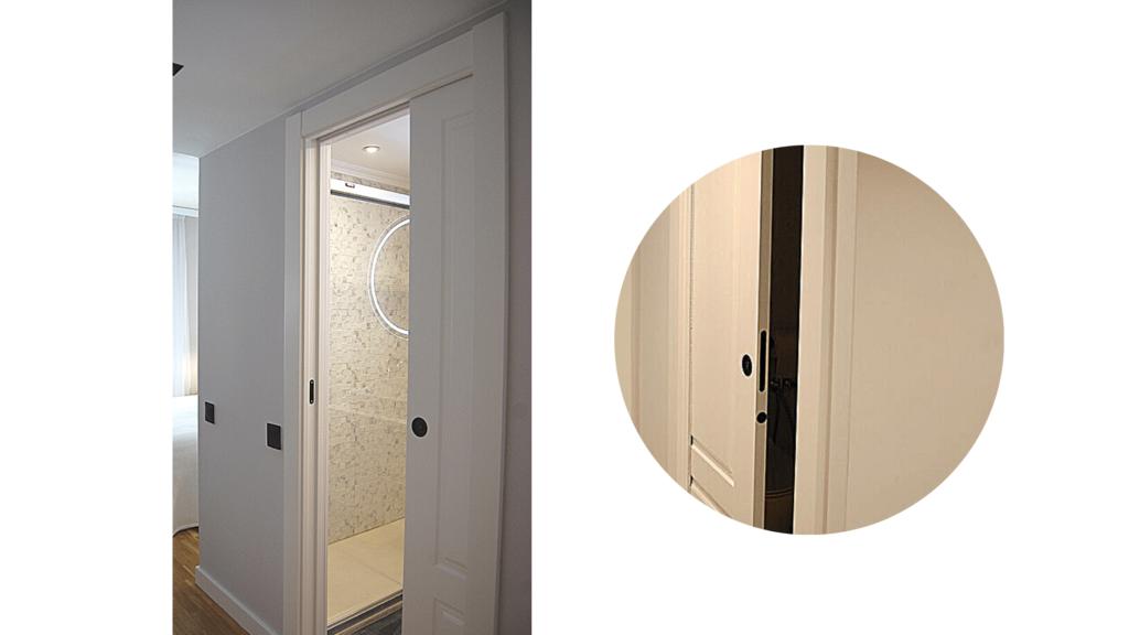 instalación de puertas correderas en reformas de baños pequeños