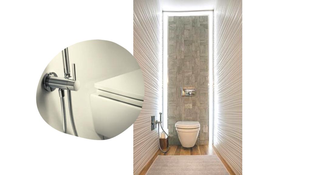 grifo de ducha higiénico, como sustituto del bidé en reforma de baño