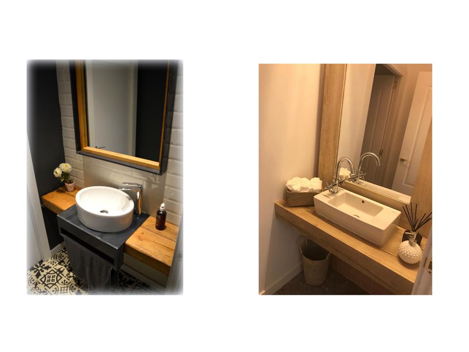 mobiliario de baño a medida suspendidos para proyectos de interiorismo de hogar