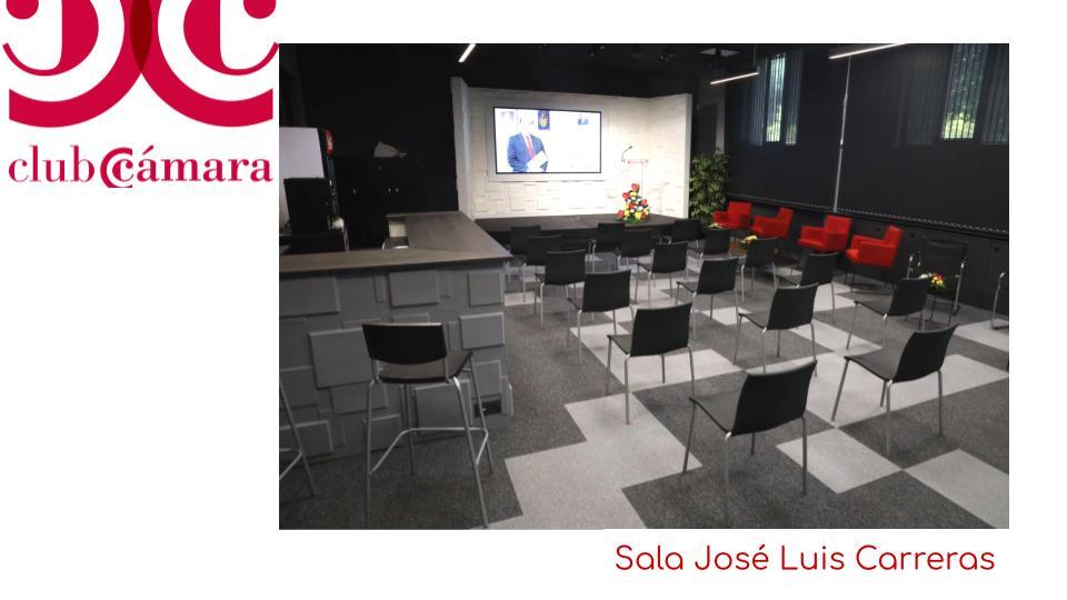 Estado de la Jose Luis Carreras en Cámara de Comercio de Zaragoza el día de su inauguración