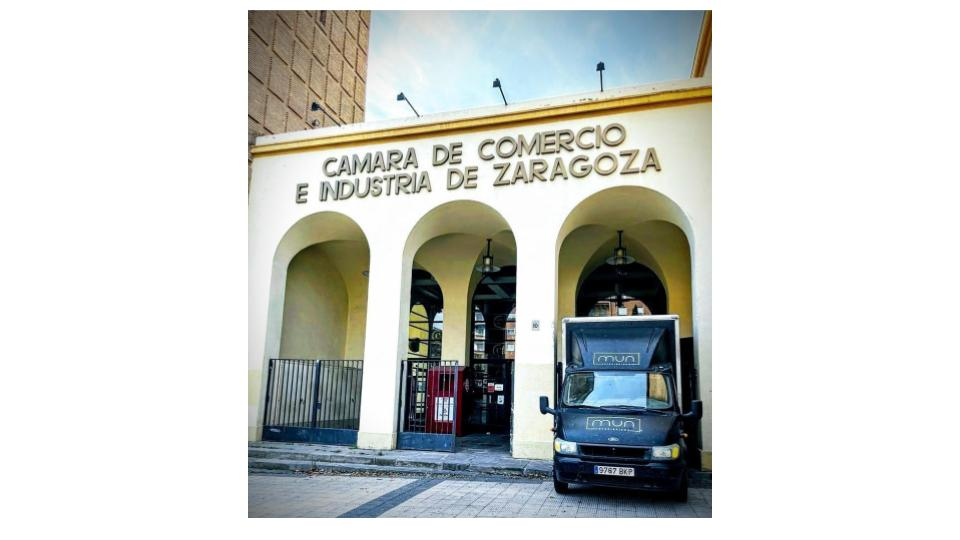 Camión Mun Interiorismo del Set en la Cámara de Comercio de Zaragoza